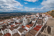 A view of the village of Pisticci, Italy. Pisticci is a town in the province of Matera, in the Southern Italian region of Basilicata.