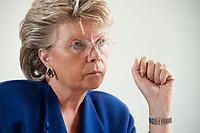 17 SEP 2010, BERLIN/GERMANY:<br /> Viviane Reding, EU-Kommissarin fuer Justiz, Grundrechte und Buergerschaft, waehrend einem Interview, Vertretung der Europaeischen Kommision in Berlin<br /> IMAGE: 20100917-01-011