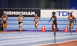 2018?3?2?.     ?????1???——????????60?????.        3?2?????????????????.        ????????????2018???????????60?????????7?24????????????????.        ???????? .(SP) BRITAIN-BIRMINGHAM-TRACK AND FIELD-IAAF WORLD INDOOR CHAMPIONSHIPS DAY 2.(180302) -- LONDON, Mar. 2, 2018  Xiaojing Liang (3rd L) of China competes in the women's 60 metres round 1 match during the IAAF World Indoor Championships at Arena Birmingham in Birmingham, Britain on Mar. 2, 2018. (Credit Image: © Han Yan/Xinhua via ZUMA Wire)