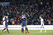 Edinson Roberto Paulo Cavani Gomez (psg) (El Matador) (El Botija) (Florestan) scored the third goal, celebration with Julian Draxler (PSG) during the French Cup, quarter final football match between Paris Saint-Germain and Olympique de Marseille on February 28, 2018 at Parc des Princes Stadium in Paris, France - Photo Stephane Allaman / ProSportsImages / DPPI