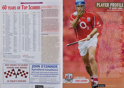 All Ireland Senior Hurling Championship - Final,.11.09.2005, 09.11.2005, 11th September 2005,.Minor Galway 3-12, Limerick 0-17,.Senior Cork 1-21, Galway 1-16,.11092005AISHCF,.Tom Kenny Cork,