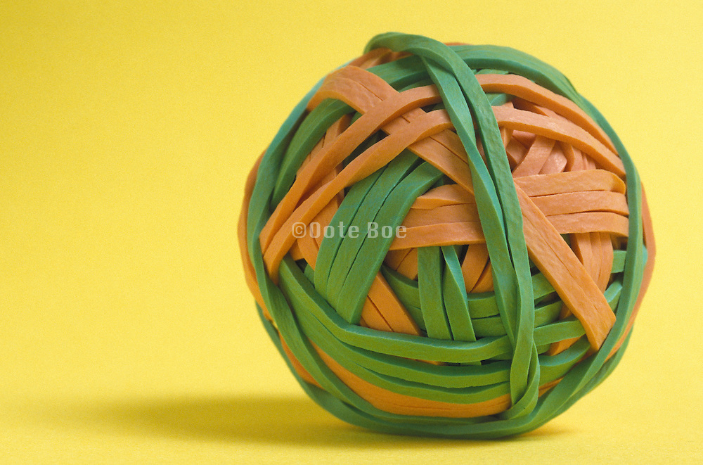 ball made of rubber bands