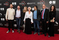 Photo-call and Red Carpet for the film Edie, directed by Simon Hunter at the Edinburgh International Film Festival<br /> <br /> Pictured: Olly Stothert (Producer), Elizabeth O'Halloran (Writer), Sheila Hancock, Simon Hunter (Director), Mark Stothert (Producer), Amy Manson