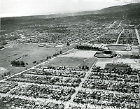 1940 Aerial photo of Gilmore Field and Gilmore Stadium