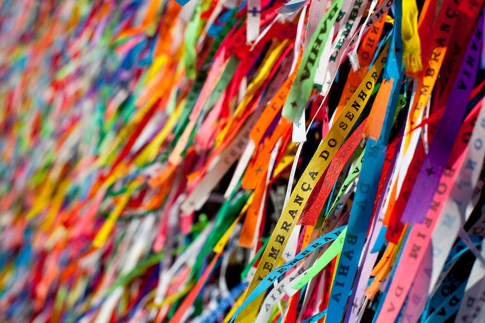 Salvador_BA, Brasil.<br /> <br /> Fitinhas do Senhor do Bonfim na Igreja de Bonfim em Salvador.<br /> <br /> Senhor do Bonfim ribbons in the Church of Bonfim in Salvador.<br /> <br /> Foto: RODRIGO LIMA / NITRO