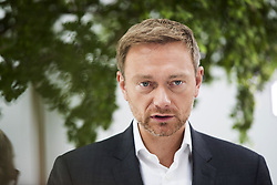 June 26, 2017 - Berlin, Germany - Leading candidate for the federal elections of the Free Democratic Party Christian Lindner is pictured during an interview at the Bundespressekonferenz in Berlin, Germany on June 26, 2017. (Credit Image: © Emmanuele Contini/NurPhoto via ZUMA Press)