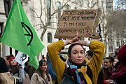Extinction Rebellion protesters outside Australia House, the Australian Embassy in London, England, United Kingdom on 10th January 2020. Climate change activists are protesting for the Australian government in response to the wild fires in Australia, and calling for the country to stop using coal.