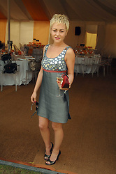 Actress JAIME WINSTONE daughter of actor Ray Winstone at the final of the Veuve Clicquot Gold Cup 2007 at Cowdray Park, West Sussex on 22nd July 2007.<br /><br />NON EXCLUSIVE - WORLD RIGHTS