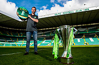 06/05/15    <br /> CELTIC PARK - GLASGOW<br /> Celtic Manager Ronny Deila promotes tickets for P4rty in Paradise on the 24th of May following his side's Scottish Premiership success.