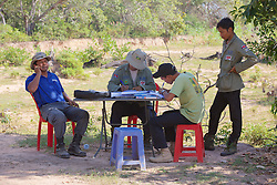 Working On Paperwork For Demining Operations