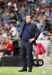 Israel manager Andreas Herzog gestures on the touchline during the UEFA Nations League Group C1 match at the Sammy Ofer Stadium, Haifa.