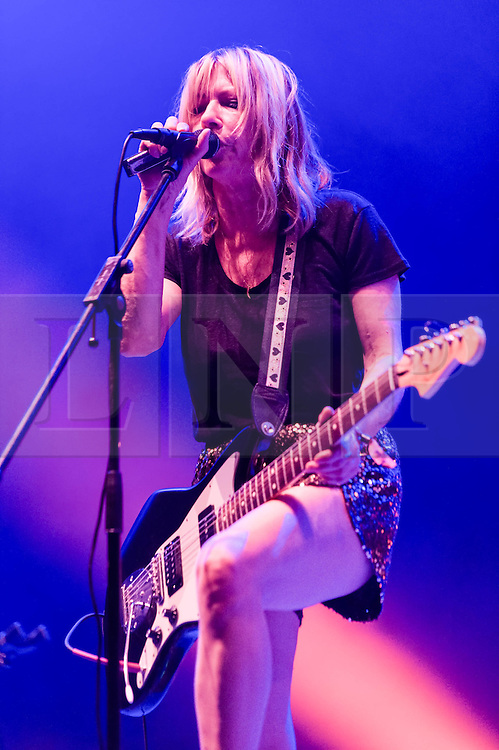 © Licensed to London News Pictures. 30/05/2014. Barcelona, Spain.   Body/Head performing live at Primavera Sound festival.   In this picture - Kim Gordon.  Kim Gordon is known for the 30 years she spent in the band Sonic Youth, with her then-husband (now divorced) Thurston Moore.  Body/Head is Kim's new band, formed in 2013.  Primavera Sound, or simply Primavera, is an annual music festival that takes place in Barcelona, Spain in late May/June within the Parc del Fòrum leisure site. Photo credit : Richard Isaac/LNP