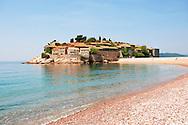The hotel island Sveti Stefan in Montenegro
