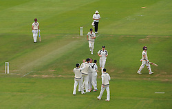 Harry Podmore of Middlesex celebrates the wicket of Chris Rogers.  - Mandatory by-line: Alex Davidson/JMP - 10/07/2016 - CRICKET - Cooper Associates County Ground - Taunton, United Kingdom - Somerset v Middlesex - Specsavers County Championship Division One