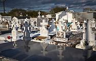Cemetery at St Joseph Cathlic Church in Chauvin, LA.