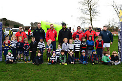 Group photo with Cooper Vuna and Jamie Shillcock. Worcester Warriors players and community coaches deliver coaching sessions at Stourbridge RFC  - Mandatory by-line: Dougie Allward/JMP - 19/03/2017 - Rugby - Stourbridge RFC - Stourbridge, England - Worcester Warriors Community Rugby