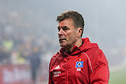 Fuusball: 2. Bundesliga, FC St. Pauli - Hamburger SV 2:0, Hamburg, 16.09.2019<br /> Enttaeuschung bei HSV-Trainer Dieter Hecking<br /> © Torsten Helmke