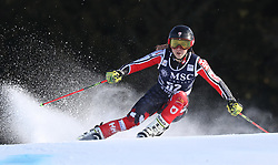 27.01.2018, Lenzerheide, SUI, FIS Weltcup Ski Alpin, Lenzerheide, Riesenslalom, Damen, im Bild Candace Crawford (CAN) // Candace Crawford of Canada in action during the ladie's Giant Slalom of FIS ski alpine world cup in Lenzerheide, Austria on 2018/01/27. EXPA Pictures © 2018, PhotoCredit: EXPA/ Sammy Minkoff<br /> <br /> *****ATTENTION - OUT of GER*****