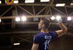 20150613 NED: World League Nederland - Finland, Almere<br /> De Nederlandse volleyballers hebben hun vierde zege in vijf World League-duels geboekt. Zes dagen na de pijnlijke 0-3 tegen België, werd in Almere Finland met 3-0 (25-20, 25-14, 25-18) verslagen / Dick Kooy #11