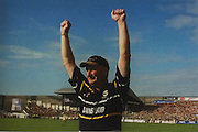 Kilkenny's Brian Coady realises that there is no way back for Offaly after Kilkenny's last goal, in the 2000 All-Ireland final.