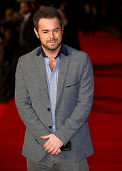 Danny Dyer arrives for the Run For Your Wife - UK film premiere Odeon -Leicester Sq- London Brit comedy about a happily married man - with two wives, Tuesday  February 5, 2013. Photo: Andrew Parsons / i-Images