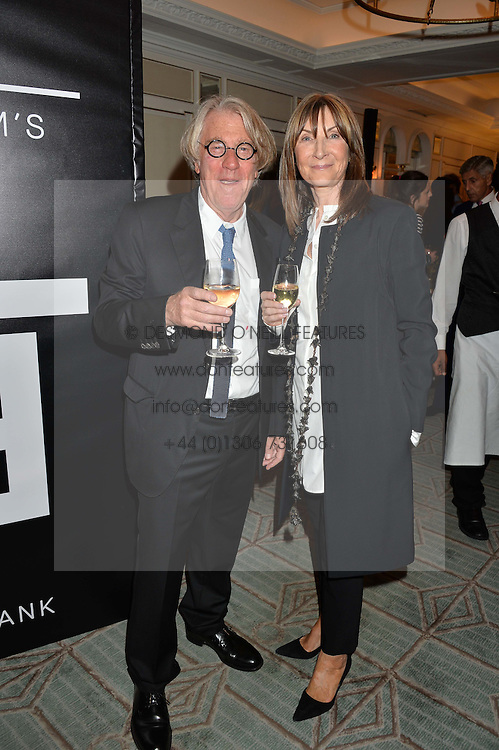 FRANK COHEN and his wife CHERYL COHEN at a the Fortnum's X Frank private view - an instore exhibition of over 60 works from Frank Cohen's collection at Fortnum & Mason, 181 Piccadilly, London on 12th September 2016.