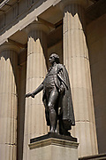 George Washington statue, Federal Hall National Memorial, financial district, New York City,