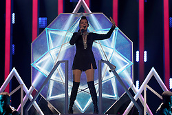 May 7, 2018 - Lisbon, Portugal - Singer Saara Aalto of Finland performs during the Dress Rehearsal of the first Semi-Final of the 2018 Eurovision Song Contest, at the Altice Arena in Lisbon, Portugal on May 7, 2018. (Credit Image: © Pedro Fiuza/NurPhoto via ZUMA Press)