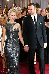 Feb. 25, 2013 - Los Angeles, California, USA - Naomi Watts and husband Liev Schreiber arrive at the Oscars at Hollywood & Highland Center on February 24, 2013 in Hollywood, California. (Credit Image: © Future-Image/ZUMAPRESS.com)