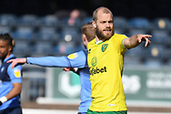 Norwich City forward Teemu Pukki (22)  points during the EFL Sky Bet Championship match between Wycombe Wanderers and Norwich City at Adams Park, High Wycombe, England on 28 February 2021.