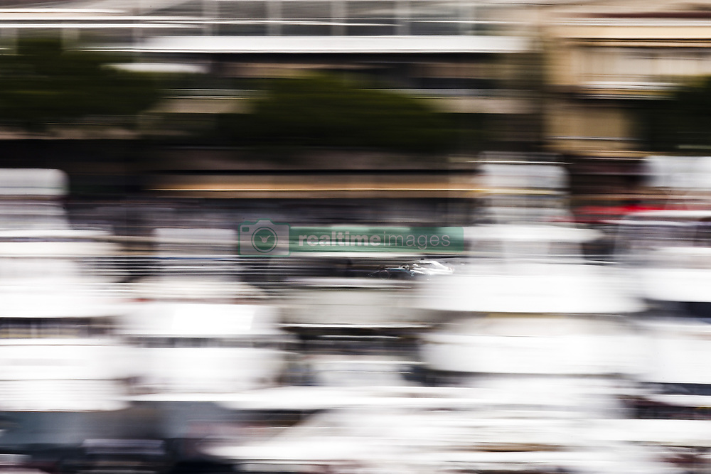 May 24, 2018 - Montecarlo, Monaco - 44 Lewis Hamilton from Great Britain Mercedes W09 Hybrid EQ Power+ team Mercedes GP  in the middle of the boats  during the Monaco Formula One Grand Prix  at Monaco on 24th of May, 2018 in Montecarlo, Monaco. (Credit Image: © Xavier Bonilla/NurPhoto via ZUMA Press)