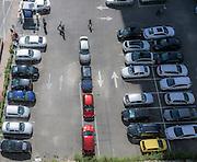 parking lot at the diamond exchange district in Ramat Gan