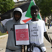 Downing Street 7 August 2021. Eastern Sudan protest of military protecting criminals and armed robbery gangs cover-up by Sudan government. the midium and heavy weapons, which are only found by the security services (police, army, intelligence, security elements) against civilians.