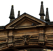 arch over a feature adorning a building in Bath, England