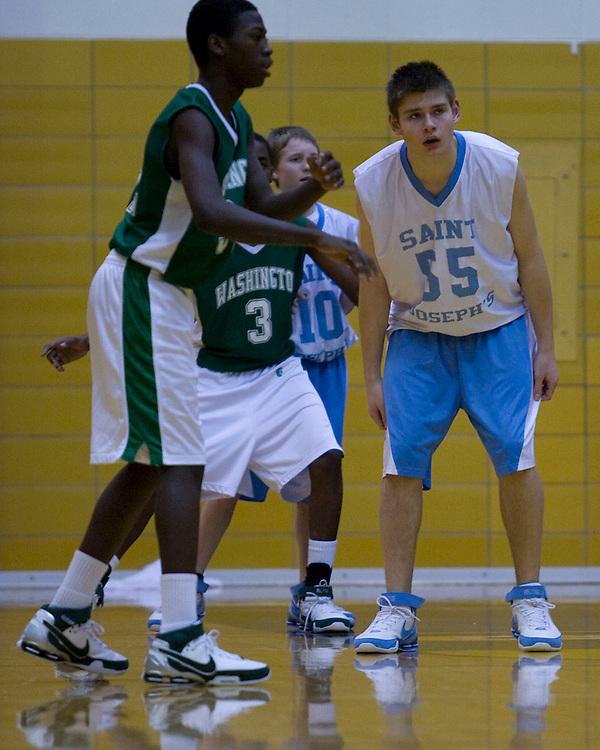 St. Joe vs. Washington.Freshmen City Tournament