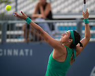 Caroline Garcia of France in action during her third-round match at the 2018 Western and Southern Open WTA Premier 5 tennis tournament, Cincinnati, Ohio, USA, on August 16th 2018 - Photo Rob Prange / SpainProSportsImages / DPPI / ProSportsImages / DPPI