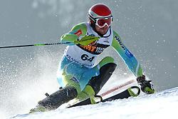 Anze Mravlja at first run of 9th men's slalom race of Audi FIS Ski World Cup, Pokal Vitranc,  in Podkoren, Kranjska Gora, Slovenia, on March 1, 2009. (Photo by Vid Ponikvar / Sportida)