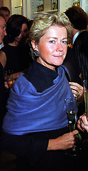 MRS LORENZO BERNI, owner of top restaurant San Lorenzo's, at a party in London on 21st September 1999.MWO 21 wo