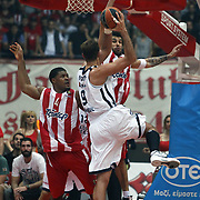 Anadolu Efes's Semih Erden (F) during their Turkish Airlines Euroleague Basketball playoffs Game 5 Olympiacos between Anadolu Efes at SEF Indoor Hall in Piraeus, in Greece, Friday, April 26, 2013. Photo by TURKPIX