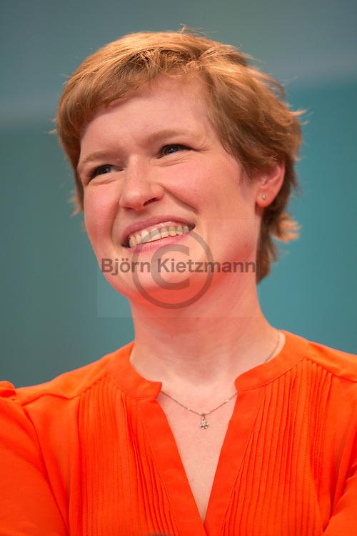 Berlin, Germany - 07.05.2015 <br /> <br /> Stefanie Lohaus, co-publisher and editor at Missy-Magazine. Day three of the leading European net-conference re:publica 15 (#rp15) at Station Berlin.<br /> <br /> Stefanie Lohaus, Mit-Herausgeberin und Redakteurin beim Missy-Magazine. Tag drei der fuehrenden europaeische Netz-Konferenz re:publica 15 (#rp15) in der Station Berlin.<br /> <br /> Photo: Bjoern Kietzmann