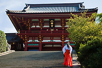 78.1 Tsurugaoka Hachimiangu Shrine 鶴岡八幡宮 - is the most important Shinto shrine in Kamakura, as well one of the most prominent in Kanagawa Prefecture.  Although it is now a Shinto shrine, Tsurugaoka Hachiman-gu was a Buddhist temple for most of its history. Many ceremonies are held here including weddings and Coming of Age day in January.  Most festivals, ceremonies and events in Kamakura are centered at and around Tsurugaoka Hachimangu.