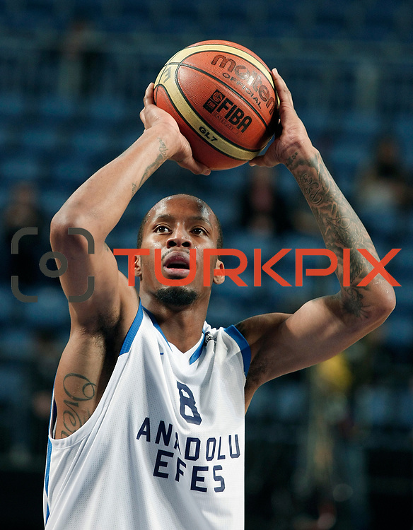 Anadolu Efes's Terence KINSEY during their Turkish Basketball League match Anadolu Efes between Banvit at Arena in Istanbul, Turkey, Sunday, November 06, 2011. Photo by TURKPIX