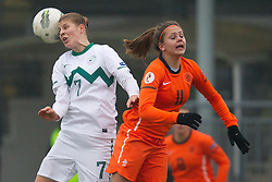 19-11-2011 VOETBAL: EK 2013 KWALIFICATIE VROUWEN: SLOVENIE - NEDERLAND: IVANCNA GORICA<br /> Pamela Begic of Slovenia vs Lieke Martens of Netherlands during football match between Women national teams of Slovenia and Netherlands in 4th Round of EURO 2013 Qualifications<br /> ©2011-FotoHoogendoorn.nl/Vid Ponikvar