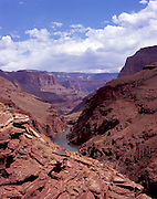 Overlooking the Grand Canyon above Deer Creek Falls, Colorado River mile 135, Grand Canyon National Park, Arizona, USA, 7 May 2008; Pentax 67II, Velvia