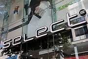 Sign for the high street clothing brand Select in Birmingham, United Kingdom.