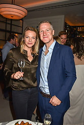 21 November 2019 -the Hon.Tanya Hamilton-Smith and Jamie Richards at the launch of Sam's Riverside Restaurant, 1 Crisp Walk, Hammersmith hosted by owner Sam Harrison, Edward Taylor and Jack Brooksbank.<br /> <br /> Photo by Dominic O'Neill/Desmond O'Neill Features Ltd.  +44(0)1306 731608  www.donfeatures.com