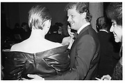 Baroness Francesca Thyssen and Prince Egon von Furstenburg. . Party to launch Faberge exhibition at Baron Thyssen's Villa Favorita, Lugano. 20 April 1987. © Copyright Photograph by Dafydd Jones 66 Stockwell Park Rd. London SW9 0DA Tel 020 7733 0108 www.dafjones.com