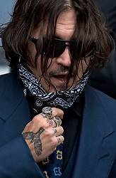 © Licensed to London News Pictures. 09/07/2020. London, UK. American Actor JOHNNY DEPP arrives at the High Court in London where Depp is in a legal dispute with UK tabloid newspaper The Sun over allegations he assaulted his former wife, Amber Heard. Photo credit: Ben Cawthra/LNP