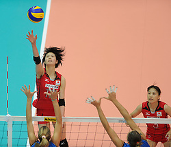 27-08-2010 VOLLEYBAL: WGP FINAL JAPAN - ITALY: BEILUN NINGBO<br /> Japan beats Italy in five sets / Saori Kimura<br /> ©2010-WWW.FOTOHOOGENDOORN.NL