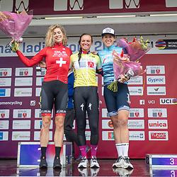 ARNHEM (NED) CYCLING, SIMAC LADIES TOUR,   August 29th 2021, <br /> Chantal van den Broek-Blaak wins GC Simac Ladies Tour, 2nd Marlen Reusser (Sui) and 3th Ellen van Dijk (Ned)